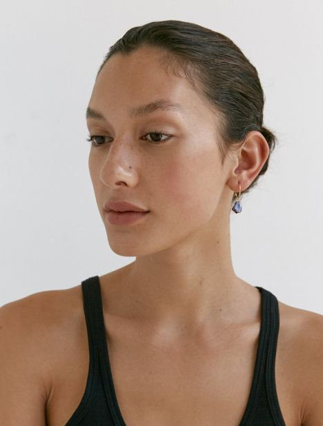Faba Black Pearl Drop Earring Set