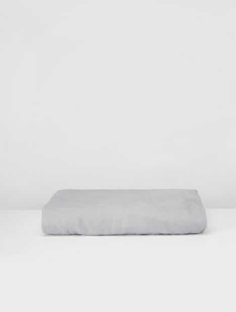 Linen Fitted Sheet - Cool Grey