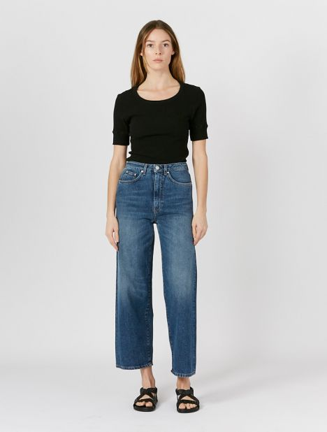 Flair Wide-Leg Jean - Washed Blue