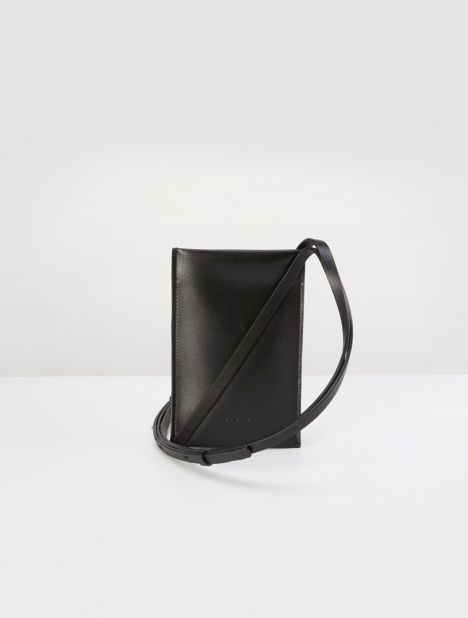 Flat Sling Crossbody - Black