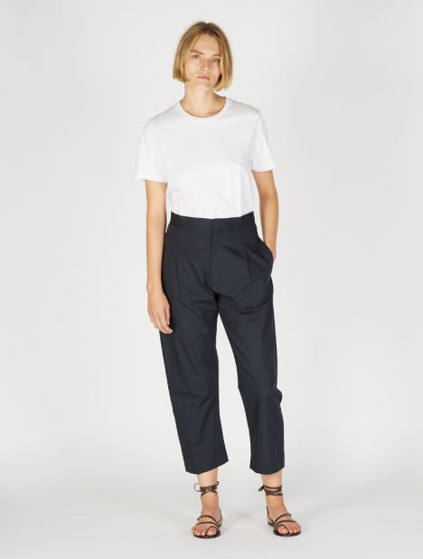 Exclusive | Forma Cotton Pant - Navy