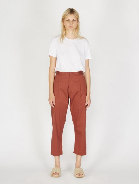 Exclusive | Forma Cotton Pant - Terracotta