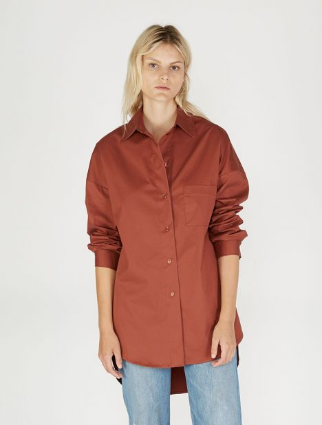 Exclusive | Forma Cotton Shirt - Terracotta