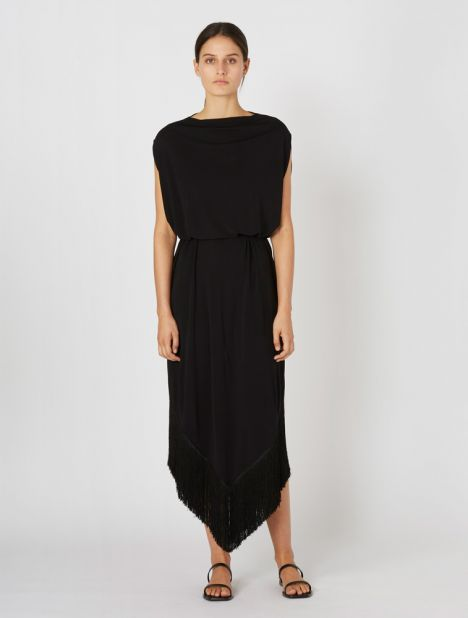 Cocoon Fringe Dress