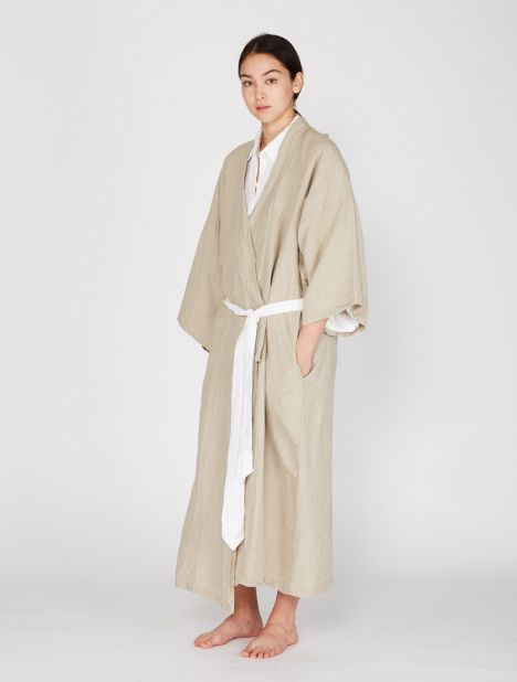 02 Full Length Linen Robe
