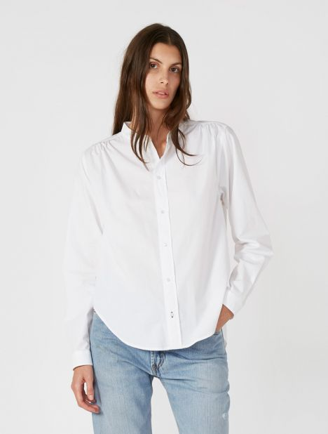Cotton Gather Detail Shirt