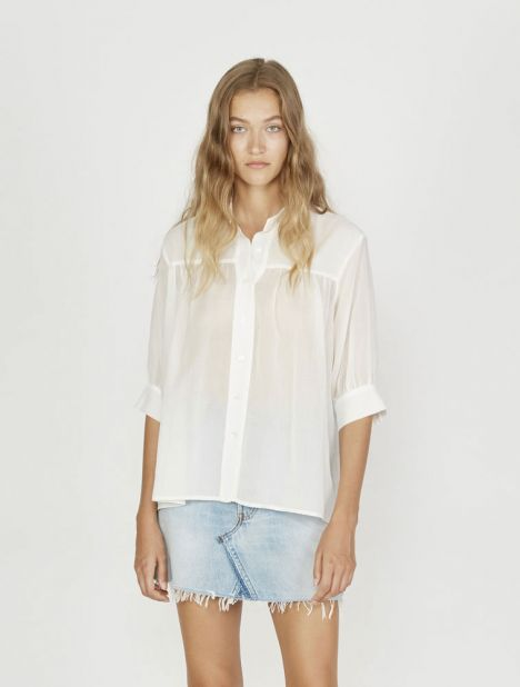 Gathered Yoke Blouse