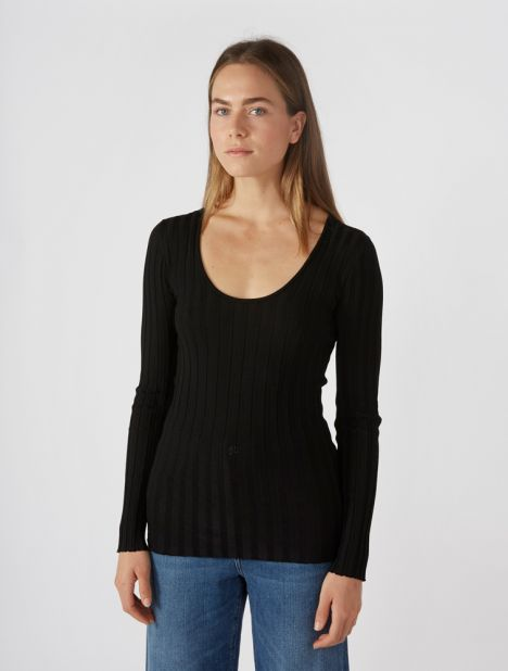 Ribbed Gaze Sweater