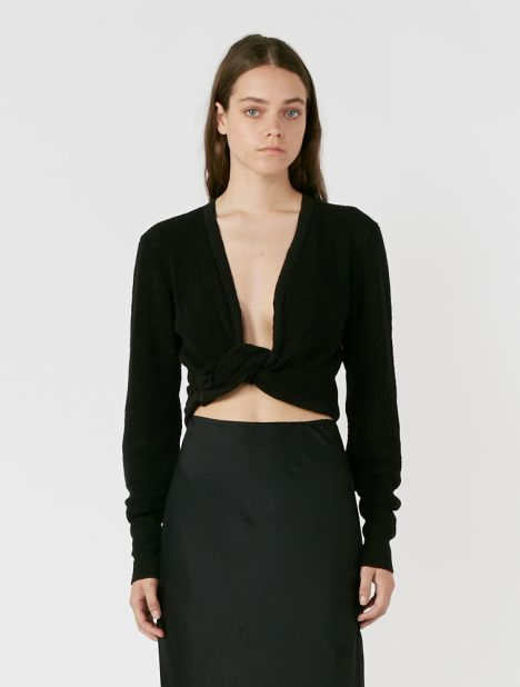 Noue Twisted-Front Long Sleeve Top