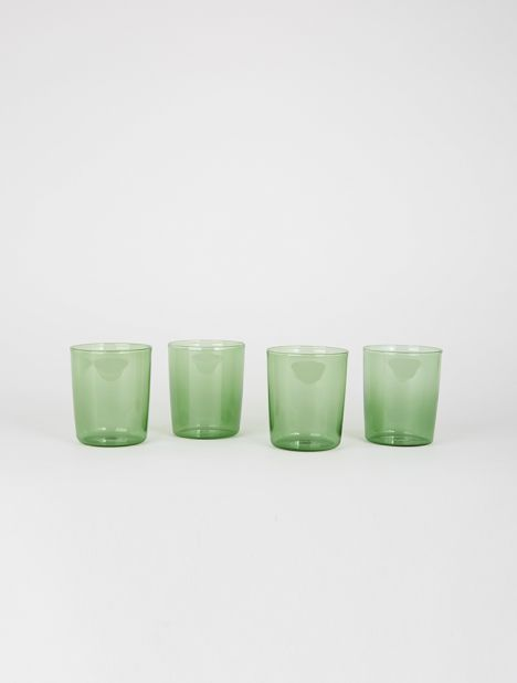 Medium Drinking Glass Set - Green