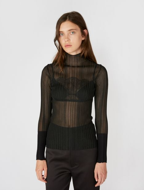 Opacity Pleat Long Sleeve Top