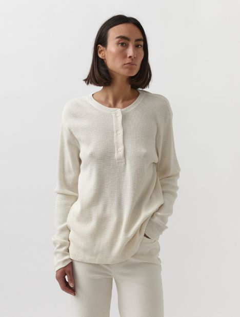 Henley Thermal Long Sleeve Top