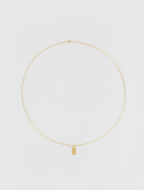 Hermina Tag Necklace - Gold