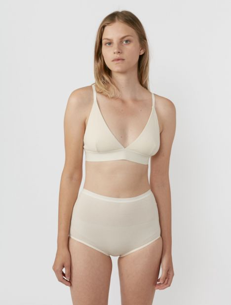 Rib Highwaist Bell Brief - Off White