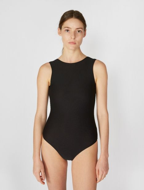 High Neck One-Piece - Black