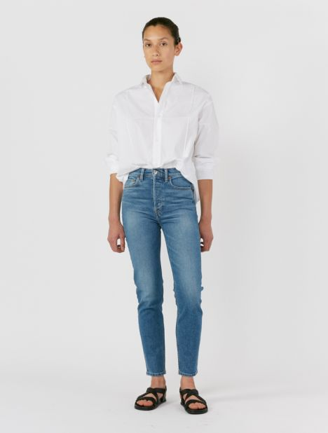 Originals 90's High-Rise Ankle Crop Jean - Medium Indigo