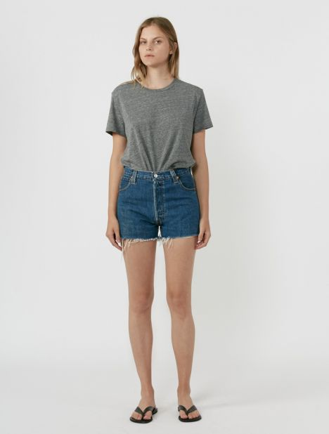 X Levis High-Rise Denim Short - Indigo