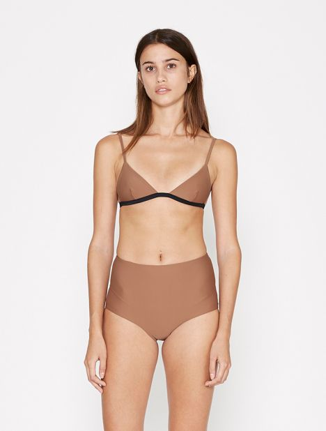 High Waist Bikini Brief - Almond