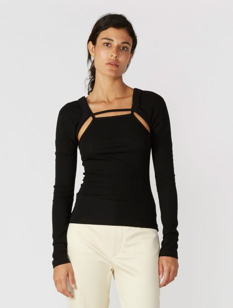 Rib Holster Long Sleeve Top
