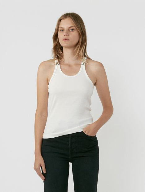 Hook and Eye Ribbed Tank