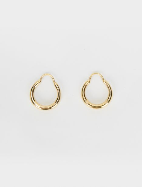 Hungry Baby Snake Earrings - Gold