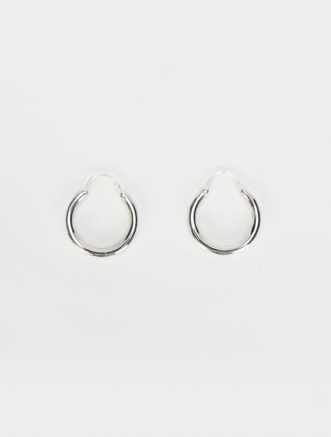 Hungry Baby Snake Earrings - Silver