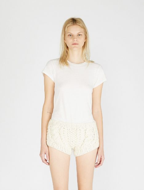 Diamond Knit Wool Short