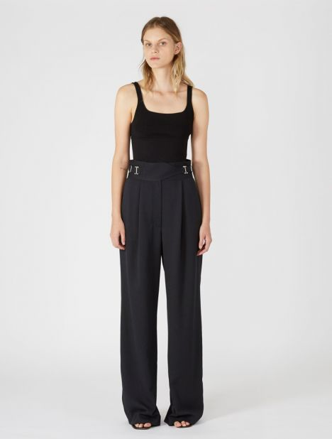 Cloth Drape Interlock Trouser