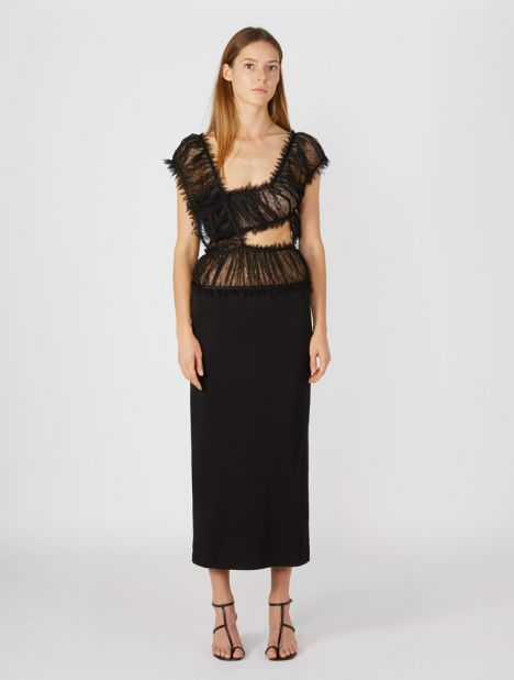 Intersect Lace Column Dress