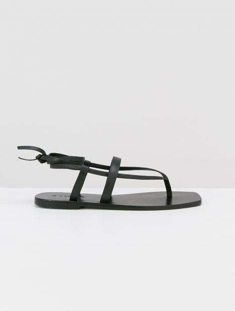 James Leather Sandal - Black