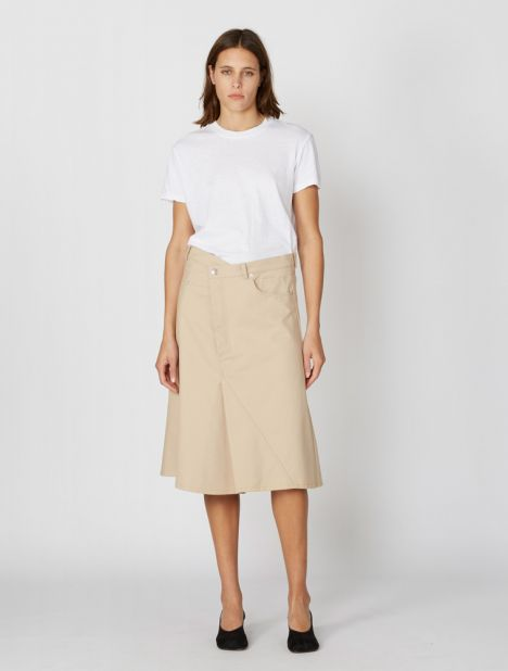 Asymmetric Jean Skirt