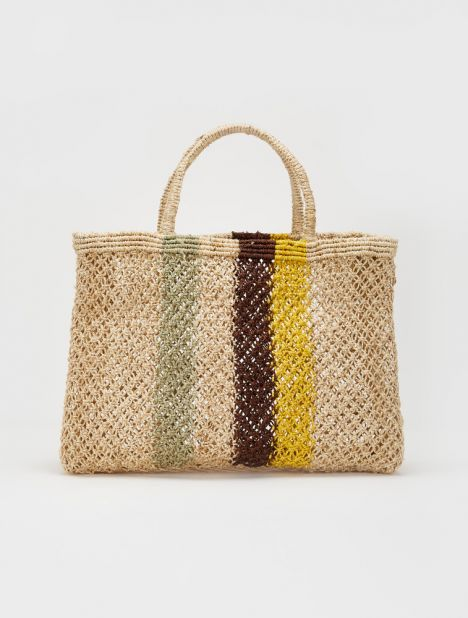Jute Macramé Square Shopper