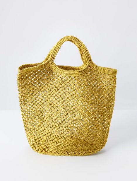 Jute Macramé Bag - Yellow