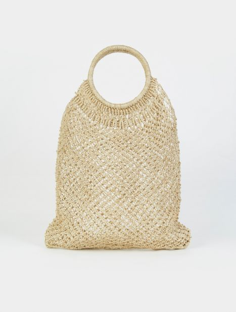 Jute Macramé Round Handle Shopper