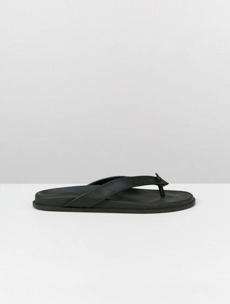 Knotted Leather Slip-On Sandal