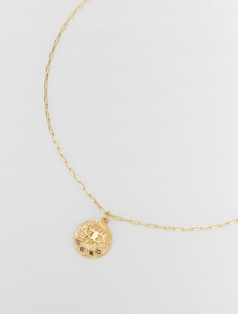 Kressida Medallion Necklace - Gold