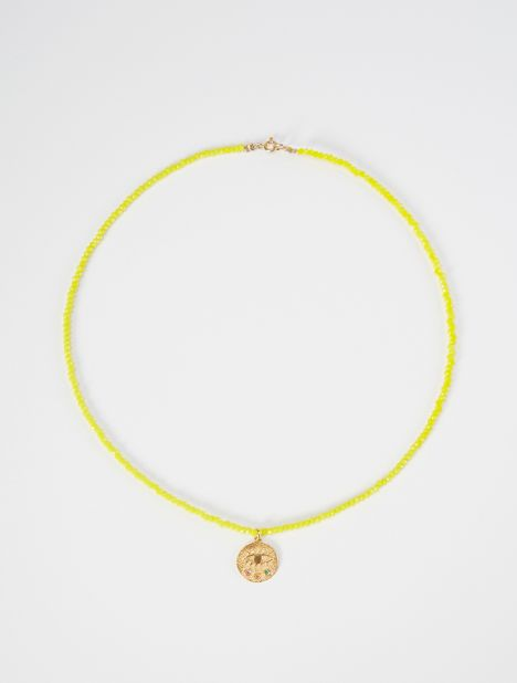 Mini Kressida Beaded Necklace - Yellow