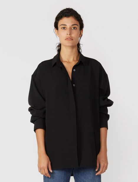 Lago Crepe Shirt - Black