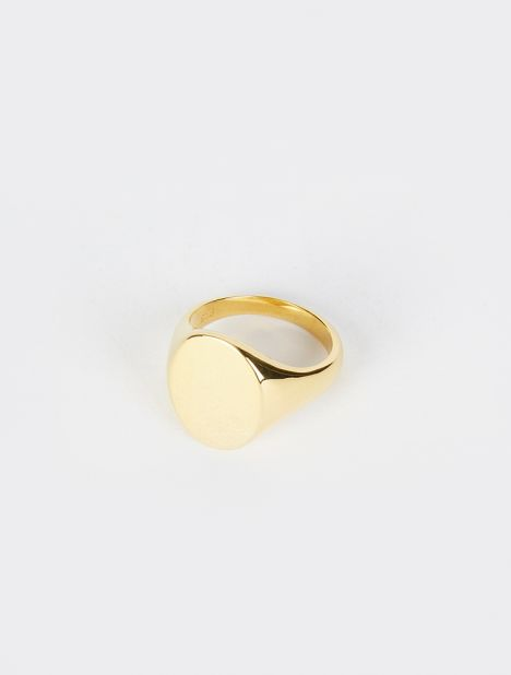 Gold Vermeil Large Signet Ring