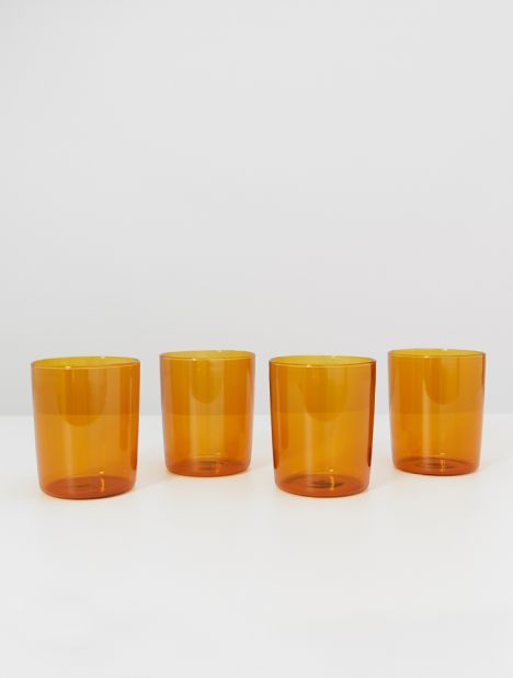 Large Drinking Glass Set - Amber