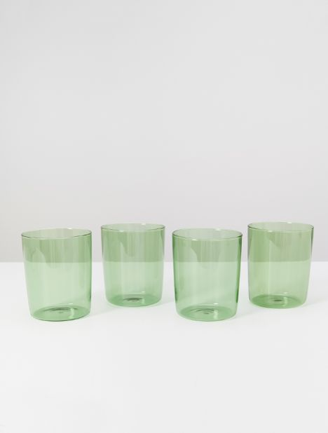 Large Drinking Glass Set - Green
