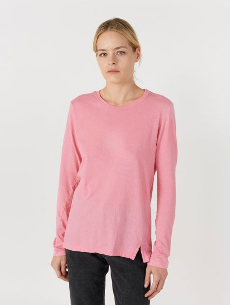 Fitted Layering Long Sleeve T.Shirt - Bright Pink