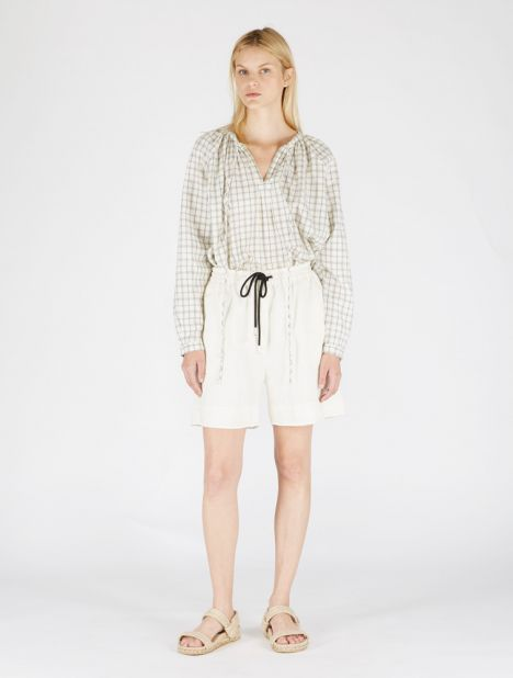 Carrie Linen Shorts - Natural