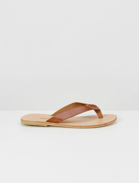 Lex Leather Flip Flops - Brown Tampa