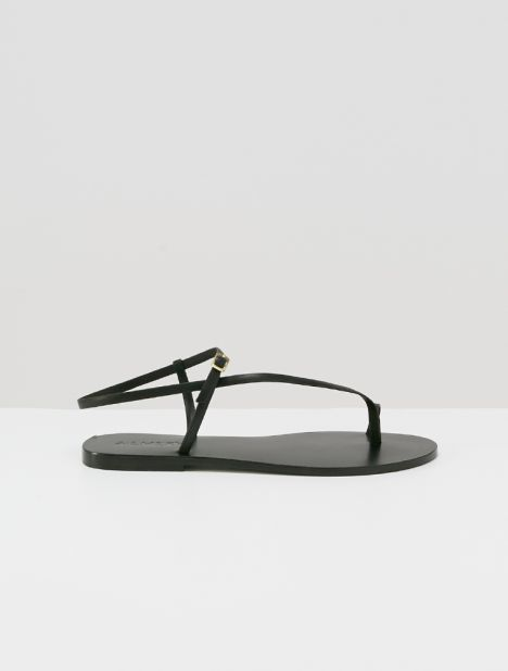 Lily Leather Sandal - Black