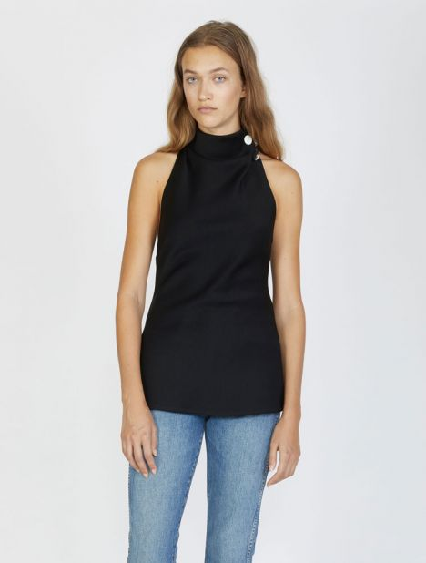 Limoges Halter Neck Top - Black