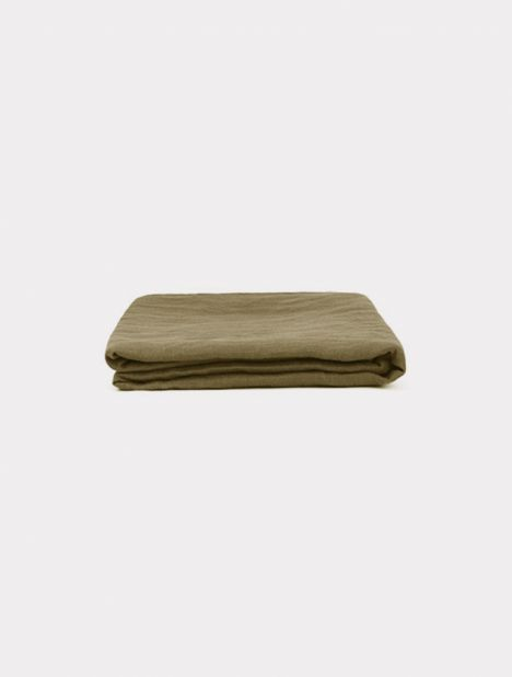 X Triibe Linen Pillowslip Set - Moss