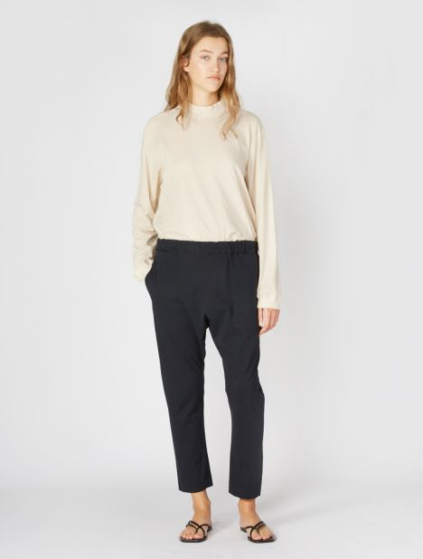 Double Jersey Long Rise Pant - Dark Navy