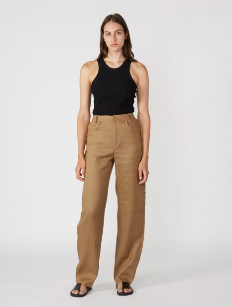 Lumen Raw Edge Pant - Camel