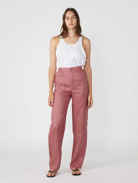 Lumen Raw Edge Pant - Dusty Pink